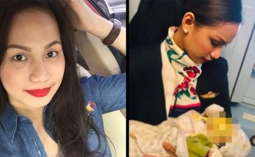 Air Hostess Breastfeeds Passengers Child