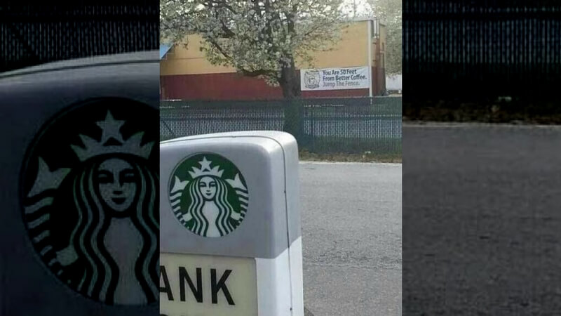 Starbucks roadside ad