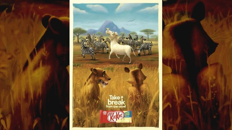 Kitkat lions on a hunt advertisement