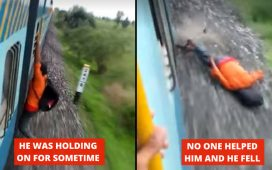 A Young Man Fell From Train
