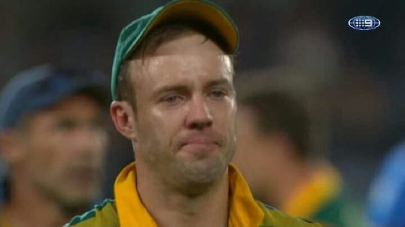 AB De Villiers Crying