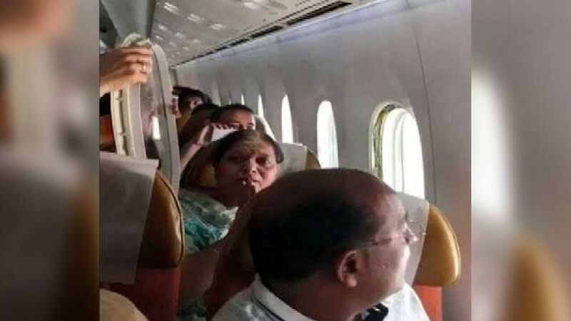 Window pane of Air India Flight came off