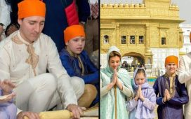 Canadian PM makes rotis at langar