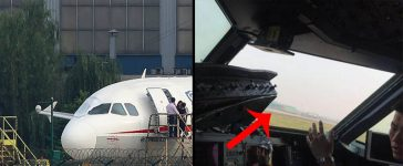 Chinese Airline Window Rips Open