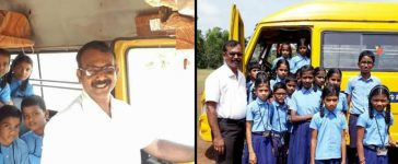 Karnataka Teacher Drives A Bus