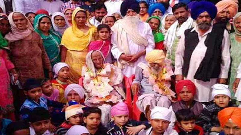Family with Bhagwan Singh and Dhan Kaur