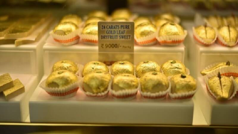 Gold Leaf Dry Fruit Sweets
