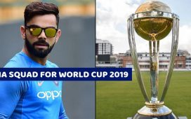 INDIA SQUAD FOR WORLD CUP 2019