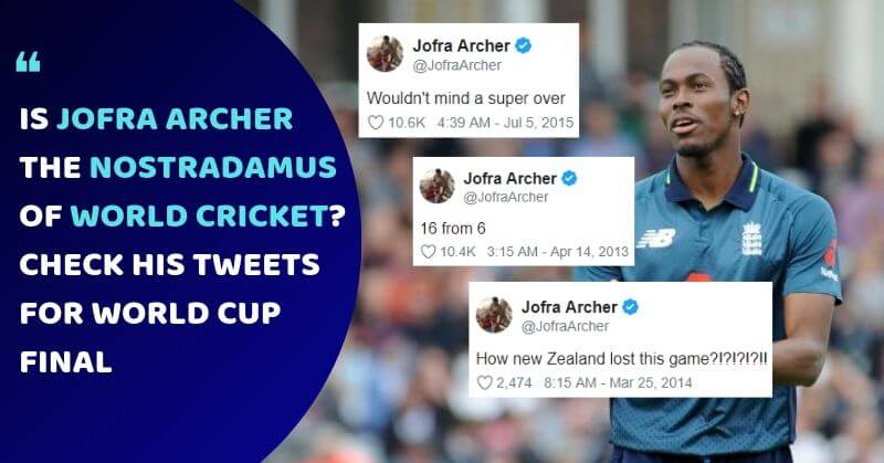 Jofra Archer Tweets World Cup Final