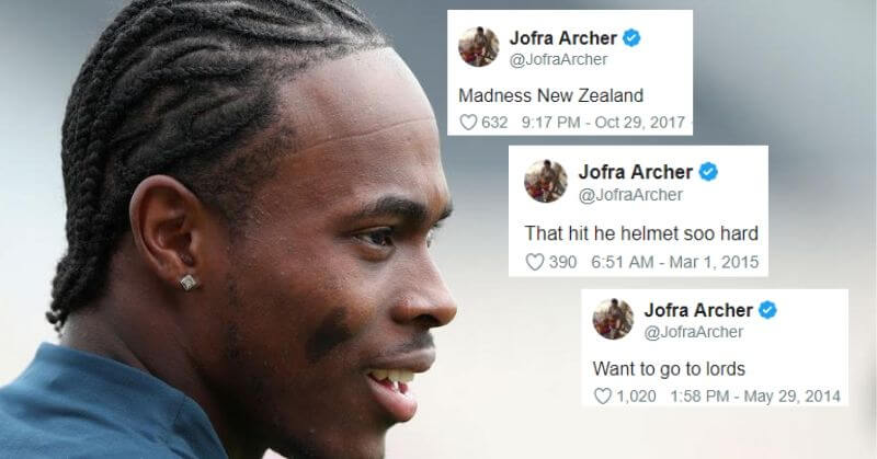 Jofra Archer Tweets