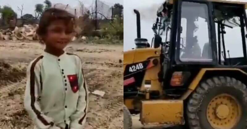 Kid Operating JCB