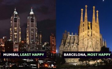 Least Happy City In World