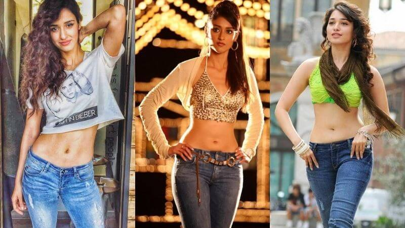 Actresses Low Waist Jeans