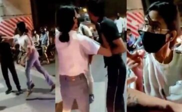 Lucknow Girl Beating Cab Driver