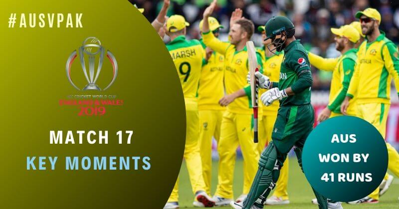 Match 17: Australia vs Pakistan