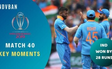 Match 40 India vs Bangladesh World Cup 2019