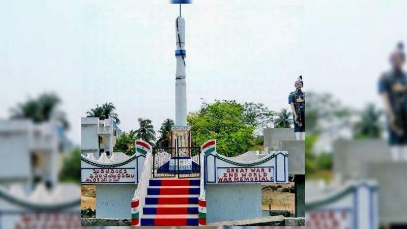 War memorial for soldiers in Madhavaram