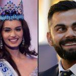 Virat Kohli Meets Newly-Crowned Miss World Manushi Chhillar