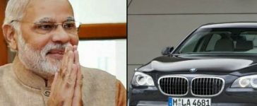 Modi travels in luxurious cars