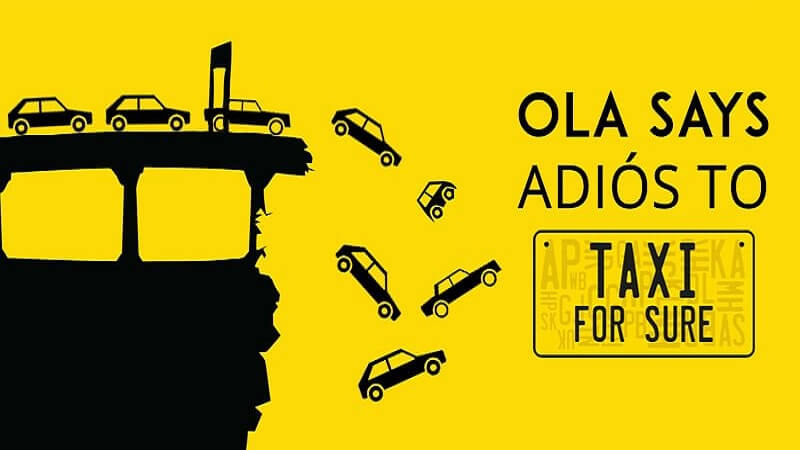 Ola Shuts TaxiForSure After 18 Months Of Acquisition