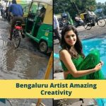 Artist Highlights Bengaluru's Pothole Problem In A Unique Way