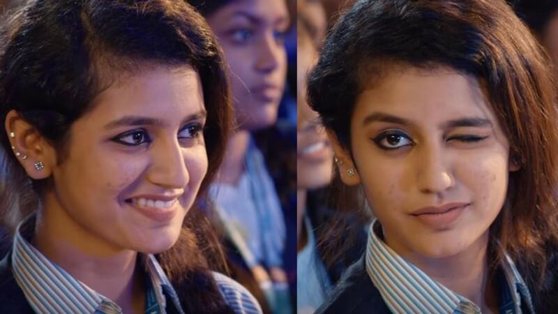 Priya Prakash Varrier Famous on social media