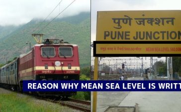 Railway Station Board Mean Sea Level