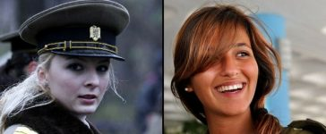 Most beautiful women armed forces