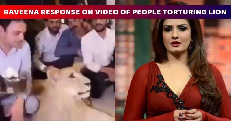 Raveena reacts on lion video