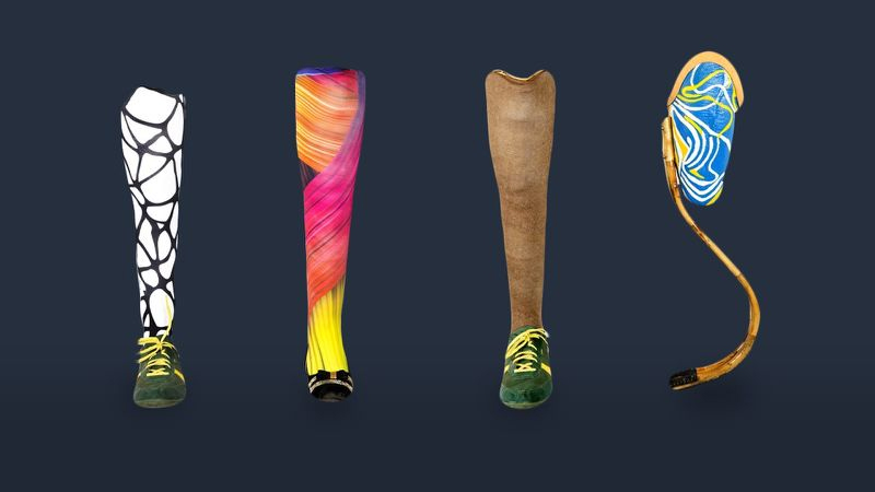 Rise legs cane prosthetics