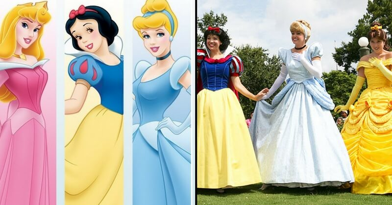 Disney Princesses Animated and Costumes worn by employees