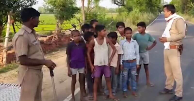 UP Kids Border Fight China
