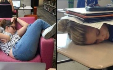 girls sleeping in awkward positions