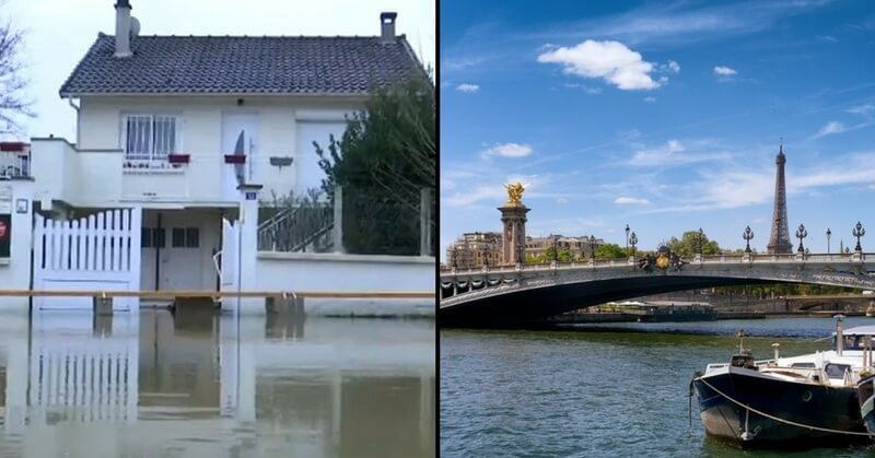 Flood scenes paris