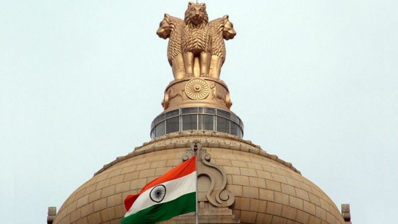 Indian Flag and Police Symbol