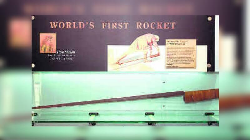 World's first war rockets were developed by Tipu Sultan