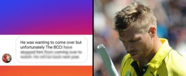 Warner Banned From Visiting India
