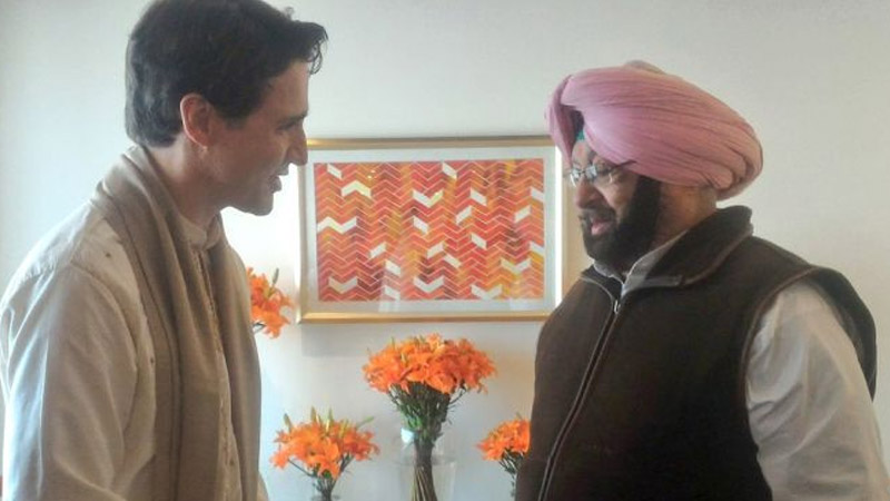 Canadian PM Meets Punjab Chief Minister At Amritsar