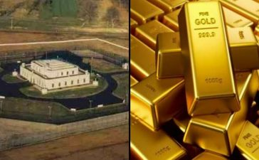 Fort Knox holds 4600 ton gold
