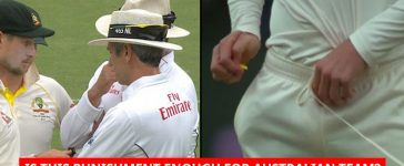 Cameron Bancroft was caught in hiding an object inside his pants