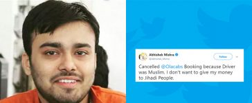Man from UP cancels cab because driver was Muslim
