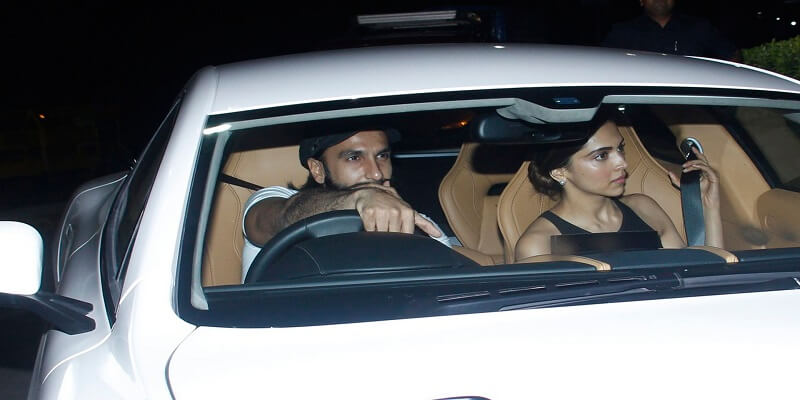 Ranveer and Deepika on his 32nd birthday
