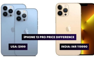 iPhone 13 Series Price Difference
