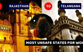 Unsafe states for women High crime rates