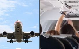 Weird woman spotted in plane